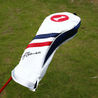 Craftsman Golf Pu Leather White Blue Red Driver Fairway Wood Hybrid Headcover