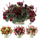 7 Branches 21 heads Fake Flowers Bouquet Artificial Rose Wedding Floral Decor