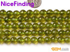 Wholesale 6mm 8mm Faceted Peridot Round Gemstone Beads For Jewelry Making 15''
