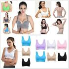 Fashion Sports Bras.Lace Trim Women Ladies Padded Wireless Yoga Gym Top S-XXXL