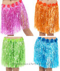 Hula Girl Flower Waist Grass Skirt Hawaiian Beach Party Ladies Mens Fancy Dress