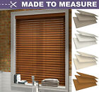 FAUX WOOD VENETIAN BLIND with strings - MADE TO MEASURE 50mm SLATS - CUSTOM MADE