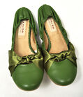 DO NI Ballet Flat Shoes 100% Animal Free Vegan Friendly Shoes Green 6 7 NEW