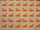 Fabulous Fox Orange & Linen Designer Fabric -  Curtain Upholstery Crafts Blinds