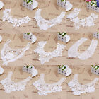 Women Crochet lace Embroidered Neckline Collar Trim Sewing Applique 9 Types
