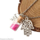 1PC Love Necklace Palm  Colored  Beads Glass Bottle Women  Gift Jewelry