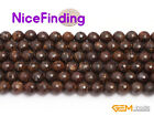 Wholesale Lot Natural Faceted Bronzite Round Beads For Jewelry Making Strand15''