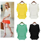 Sexy Womens Batwing Short Sleeve T-Shirt Ladies Summer Casual Loose Tops Blouse