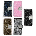 Luxury Bling Rhinestone Diamond Flip Wallet Leather Phone Case Cover For Iphone