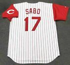 CHRIS SABO Cincinnati Reds 1993 Majestic Throwback Home Baseball Jersey on Ebay