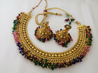 new indian bollywood jewelry necklace set ethnic gold plated traditional set