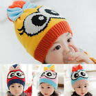 FL New Winter Baby Cute Children Big Eyes Knitted Beanie Bowknot Kids Hat