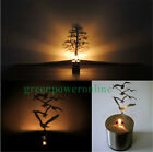 Candle Shape Flash LED Night Light Creative Stainless Steel Shadow Lamp G