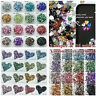 NEW Resin Flat Back Beads 4/6/8/10mm Crystal Rhinestone Shining Ornament Craft