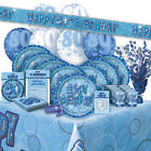 ALTER 80/80TH GEBURTSTAG BLAU GLANZ PARTY REIHE Ballon/Dekorationen/Banner/