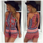 Women Ladies Summer Beach Party Clubwear Playsuit Sleeveless Sexy Mini Jumpsuit