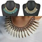 Hot Women's Bib Choker Crystal Chunky Statement Chain Necklace Pendant Jewelry