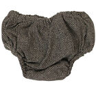 Brown Tweed Diaper Cover 100% Cotton Bloomers Boy Toddler Baby