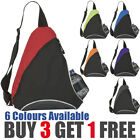 SCHOOL MONOSTRAP BACKPACK SINGLE STRAP MESSENGER SHOULDER BAG - 6 GREAT COLOURS