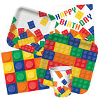 BLOCK PARTY RANGE ( Lego/Kids/Fun/Birthday/Cups/Plates/Balloons/Invitations)