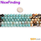8, 10mm Natural Amazonite Round Stone Beads For Jewelry Making Loose Beads 15""