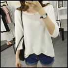 On Sale Ladies Womens Loose Fit Casual Pullover Sweaters Tops Shirts One Sizes