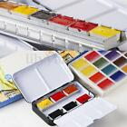 Solid Watercolor Empty Case For 12 / 24 Half Pans Colors Draw Artist Paint Iron