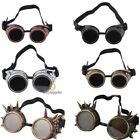 Vintage Retro Cyber Goggles Steampunk nail Glasses Welding Punk Gothic Victorian