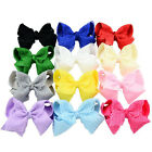 4 Inch Baby Girls Lace Hair Bows Kids Ribbon Bowknot Headwear With Clip