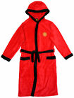 Boys MANCHESTER UNITED MUFC Hooded Fleece Dressing Gown 3 to 13 Years
