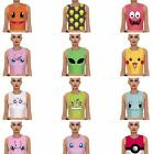 HOT Pokemon Cartoon Pattern Crop Printed Women tank tops sleeveless Tee Vest 1pc
