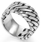 13MM Size 7-15 Stainless Steel Biker Ring Chain Motorcycle Chunky Cuban Curb