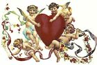 Valentines Victorian Cherubs Heart Select-A-Size Waterslide Ceramic Decals Xx image