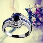 Blue Sapphire White Gold Filled Engagement Ring Size 7 8 9 Rings Jewelry New  BS