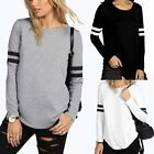 New Women's Loose Long Sleeve Cotton Casual Blouse Shirt Tops Fashion T-shirt RD