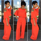 Women Sexy Sleevels 2 pieces Bodycon work Party jumpsuits Long Pants 5156