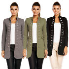 6062 DAMEN JACKE BLAZER ADMIRAL UNIFORM BLOGGER MILITARY KNÖPFE MANTEL S M L XL