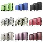 3 Pcs Luggage Travel Suitcase Set Hard Shell Bags Trolley 4 Wheels Spinner S8D0