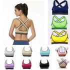 Women Yoga Fitness Stretch Workout Tank Top Vest Racerback Padded Sports Bra
