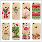Christmas Transparent Printed Case Cover For Iphone 5 5S 6 6S 6/6s Plus 7/7Plus