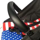 Universal Grip Handle Leather Sleeve Cover For Baby Infant Stroller Pram Cart S