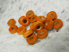 3x8mm 150/200/ 300/500/1000pcs OPAQUE ORANGE RED WOOD BEADS W00071
