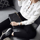 Women Fashion Lace Up Sweatshirt V-neck Long Sleeve Casual Jumper Pullover Top T