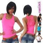 New Sexy Women's Summer Crochet Stretch Top Party Casual Singlet Size 8 10 S M