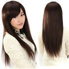 27inch 160g Silky Long Straight Women Wig 100% Human Hair Wigs Machine Made