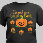 Personalized T-Shirt For Mom / Grandma My Pumpkin Patch Autumn T-shirt Halloween