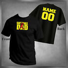 Softball (U-Pick) Family & Personalize Back T-Shirt All Adult Sizes XS - 6XL_