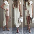 New Casual Women Midi Dress Short Sleeve T-shirt Top Long Dress Club Party G2K3