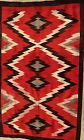 Late 19th C Navajo Transitional Period Historic Blanket Rug,dramatic artistry,NR