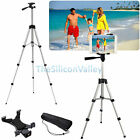Professional Aluminum Camera Tripod Stand Mount + Tablet Holder For iPad Samsung